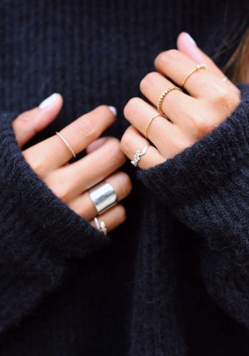 SILVER GOLD RINGS
