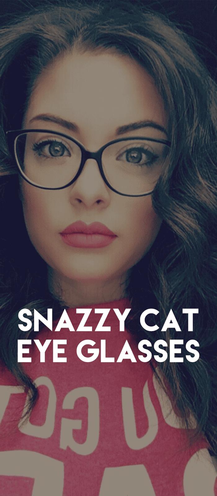 Snazzy Cat Eye Glasses