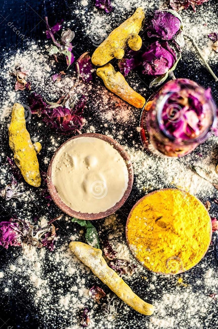 Rose Water and Sandalwood Powder Paste For Sun Tan Removal