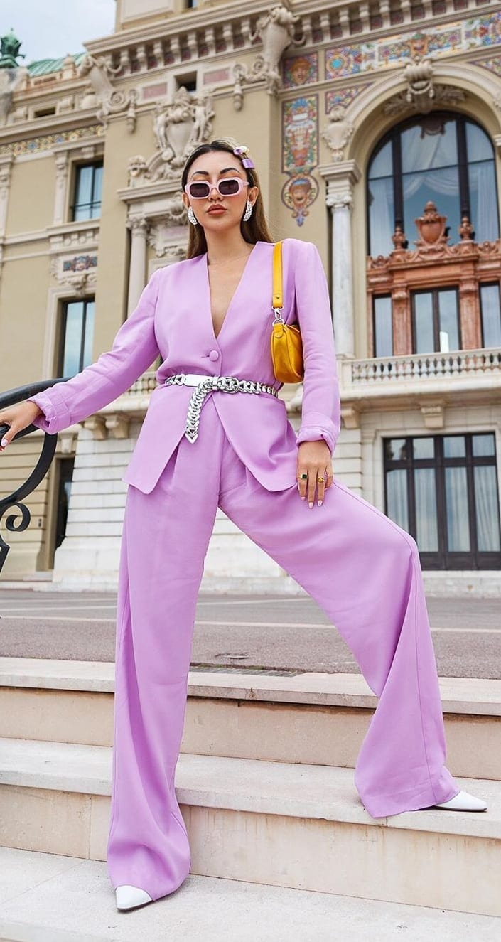Lavender-Suit-Ideas for Women