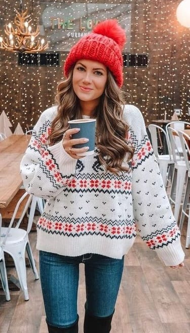 Cute Sweater Outfit for Christmas