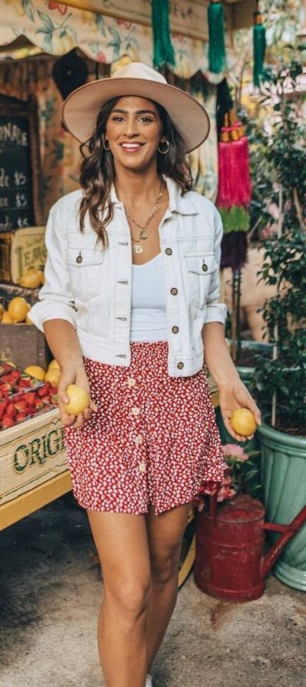 Cute Buttoned Down Mini Skirt