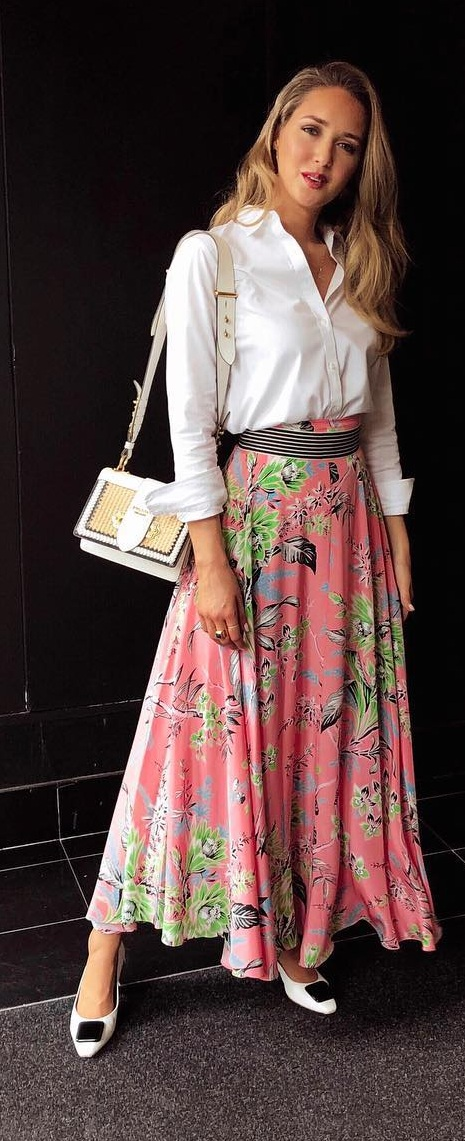 Floral Maxi Skirt for summers