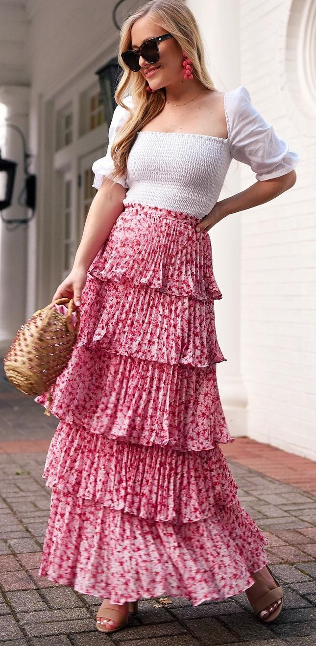 Pretty Ruffle Skirt To Add To Your Summer Wardrobe