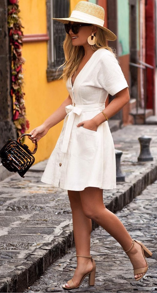 Cute Pocket Dress Outfits for Women