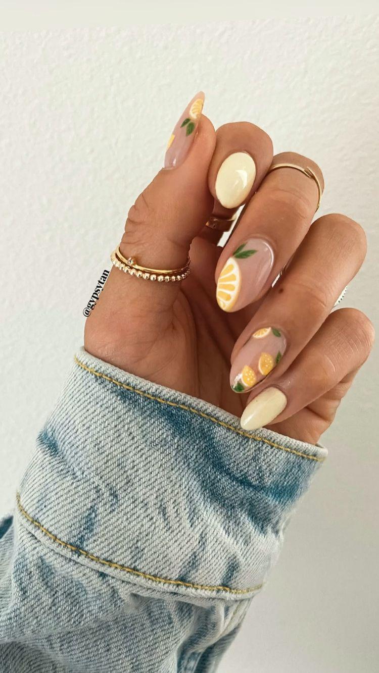 Cool Lemon Nail Art Design Ideas 2021