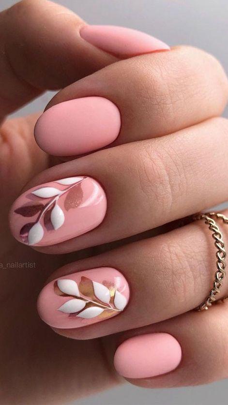 Stunning Floral Nail Art Design Ideas