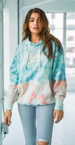 Cool and Comfy blue Tie Dye Pullover Outfit