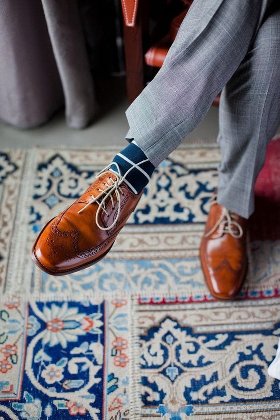 dress shoes with socks for men