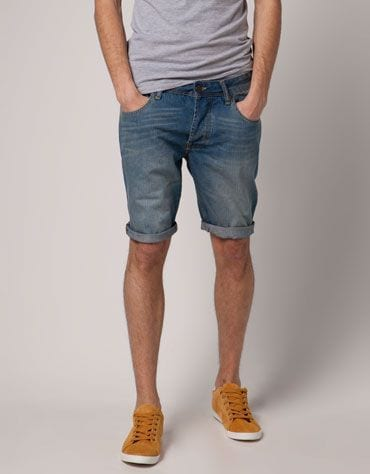 simple denim shorts