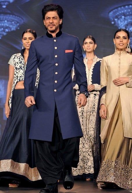 roayl blue sherwani shahrukh khan