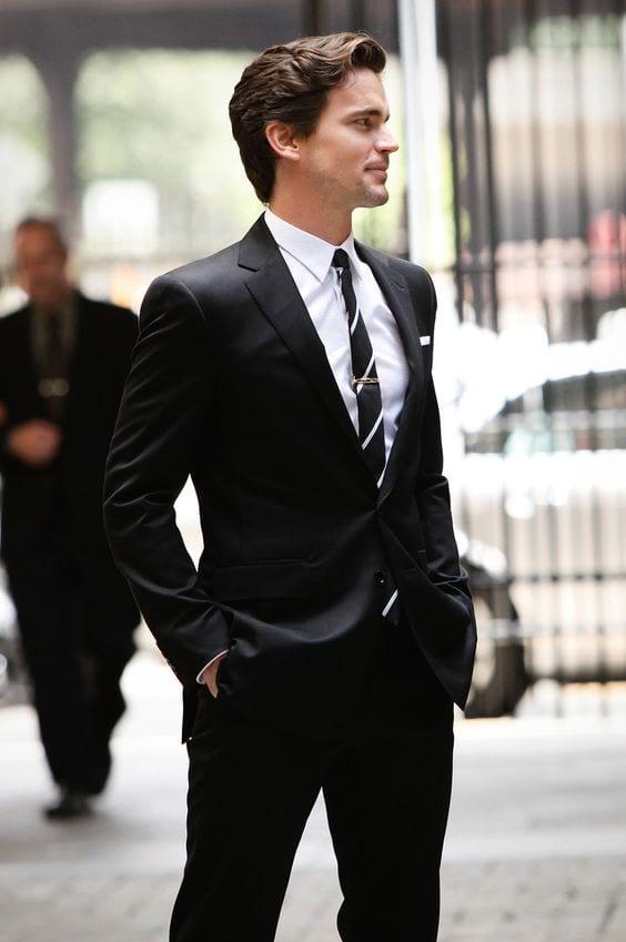 matt bomer black formal suit