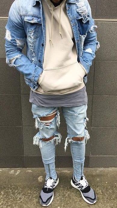 Denim Skinny Jeans Men