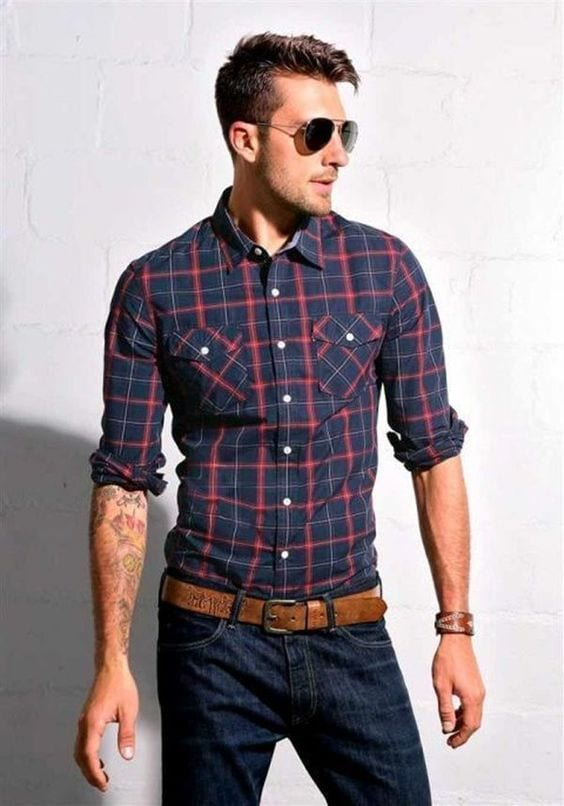 shirt with sunglasses look