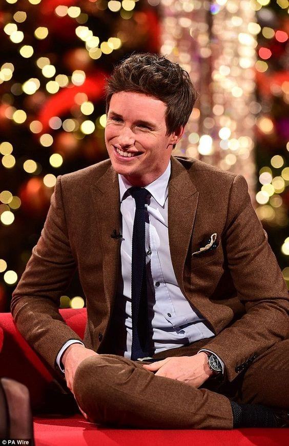 brown suit eddie redmayne