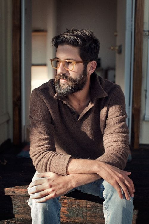 groomed bearded men with glasses