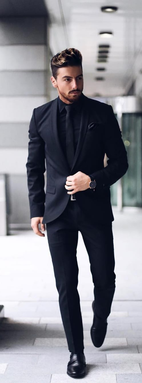 5 Must Have Suits For Men - Black suits