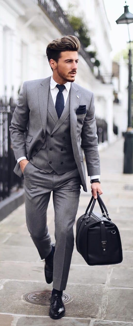 5 Must Have Suits For Men - grey suit