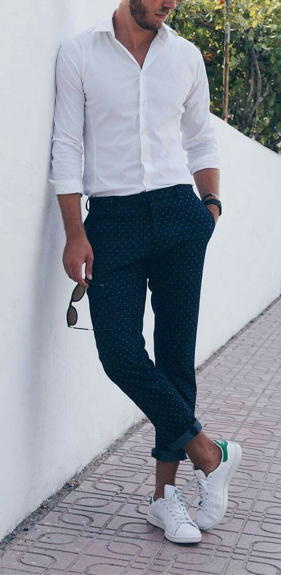 smart outfit with white sneaker