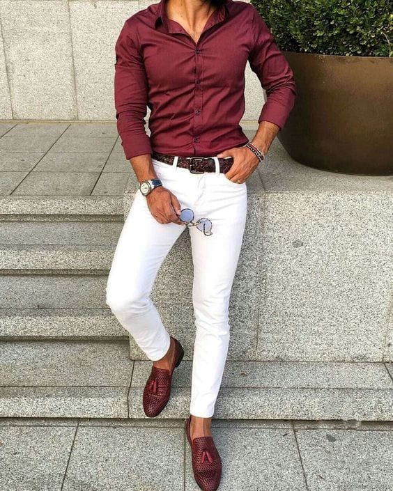 white chino look for men
