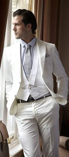 formal white waist coat outifit