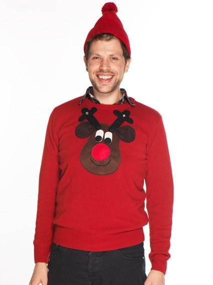 e5e6d7295ce Christmas Jumper Rudolph Brown Bobble Sweater ⋆ Best Fashion Blog ...