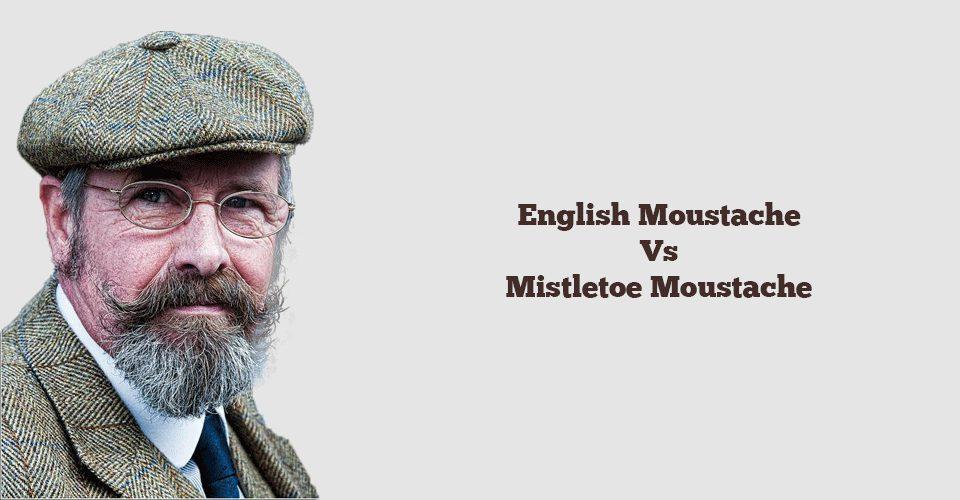English Moustache and Mistletoe Moustache