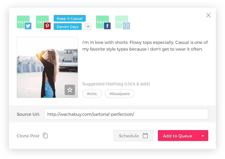 scheduling social media post made easy with viral tag