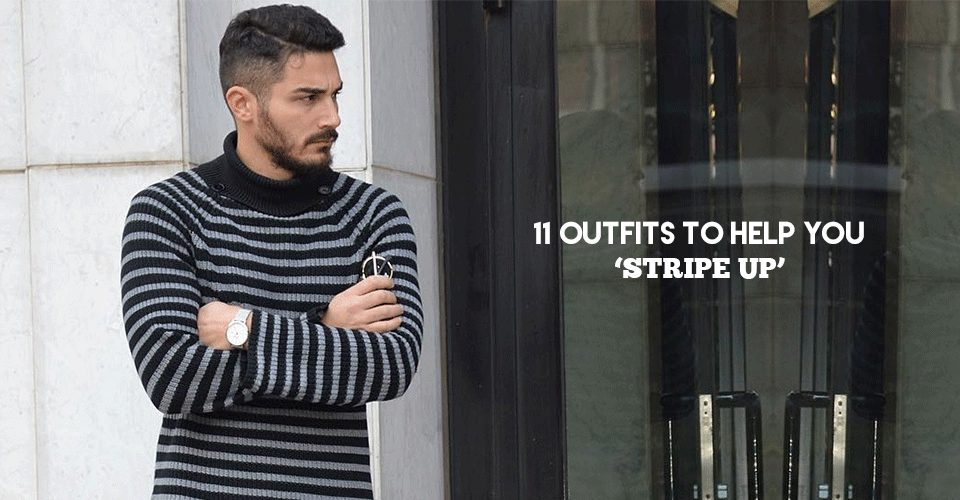 stripe outfits for men