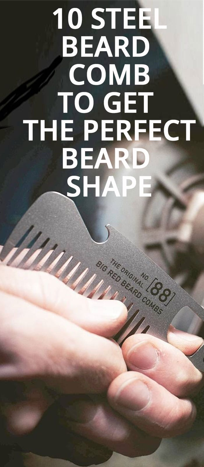 10 STEEL BEARD COMB