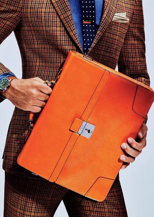 briefcase and suits