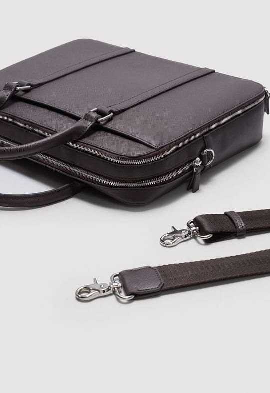 classy black briefcases for men