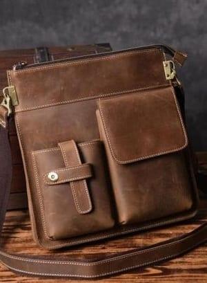 classy brown messenger bags