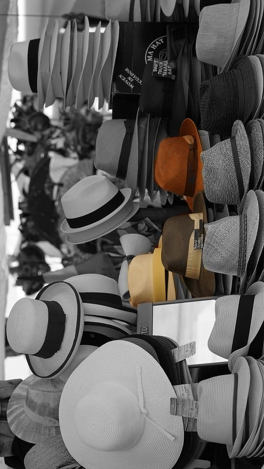 collection of panama hats