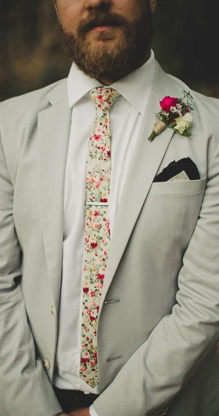 floral skinny necktie
