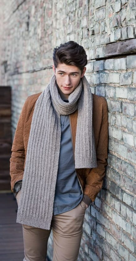 knit scarf for men