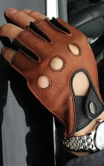 leather driving gloves for classy men