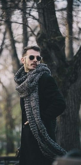long knit scarf for men