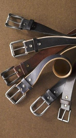 trendy leather belts
