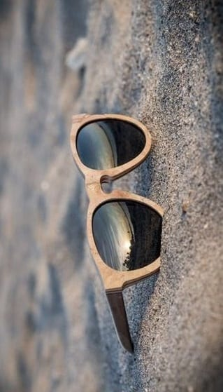 wooden frame sunglasses for men