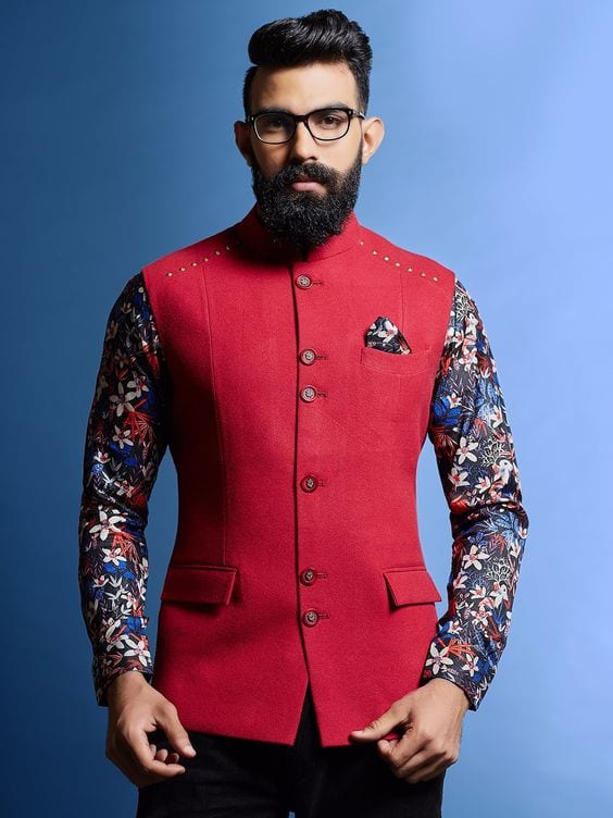 nehru jackets with floral