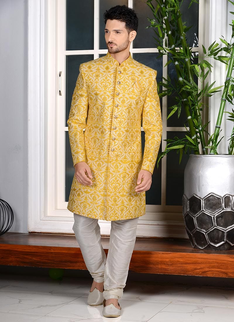 sherwani for haldi