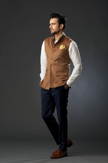 smart nehru jacket look