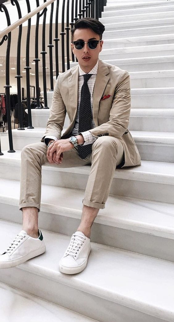 suits and white shoes