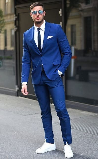 suits with white shoes