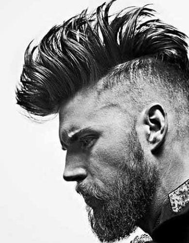 Mohawk spikes with beard