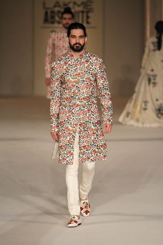 colourful embroidery with pajama and making footwear