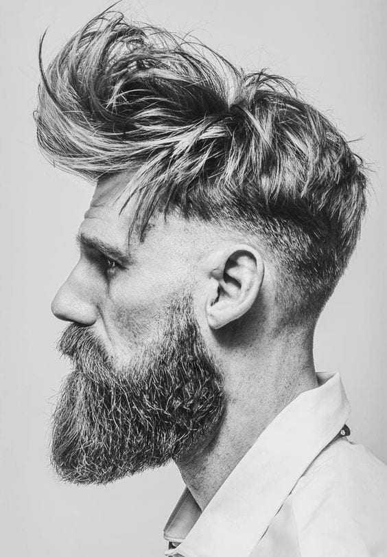 messy undercut with beard styles