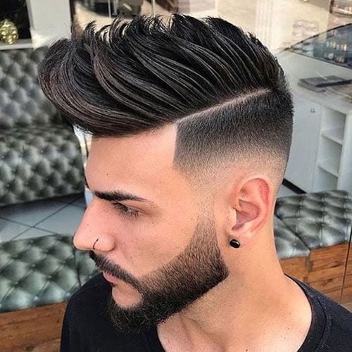 skin faded pompadour