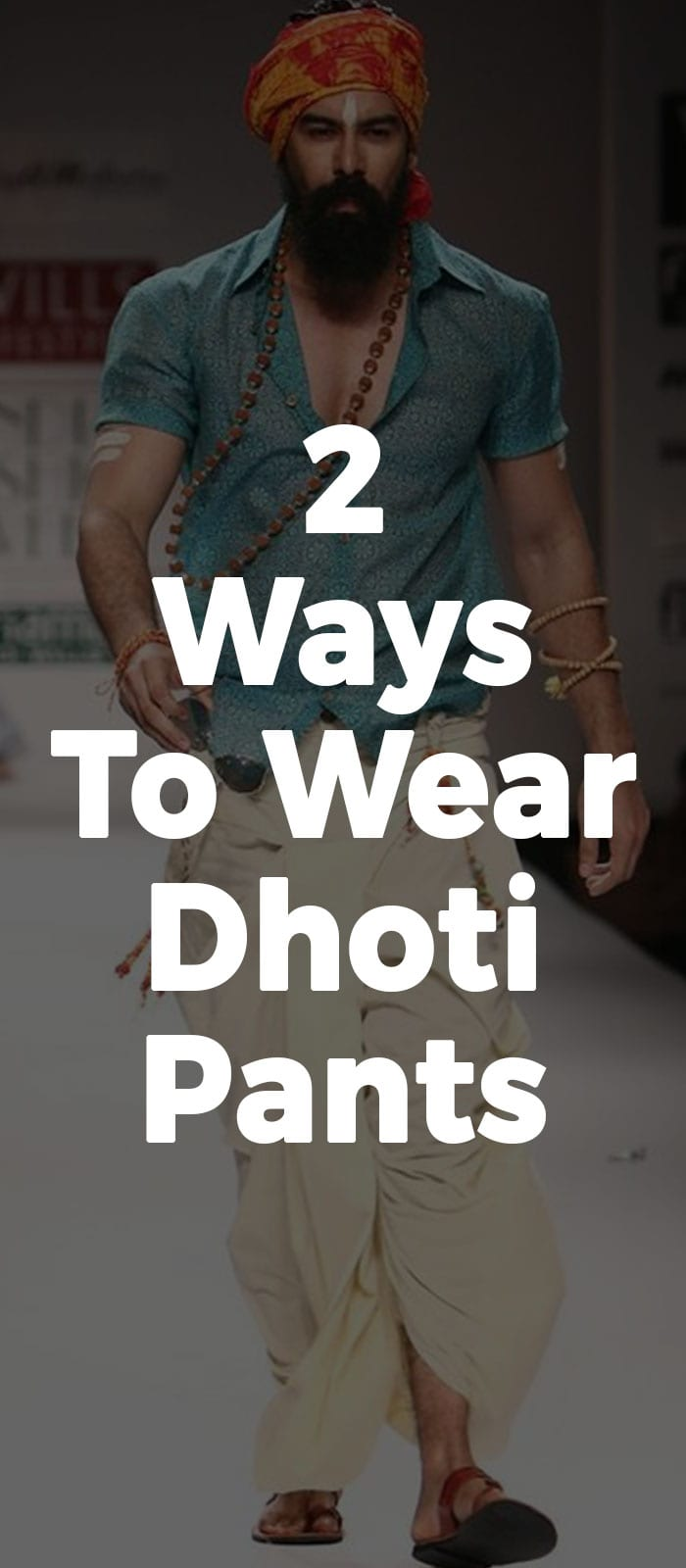 2 Ways To Wear Dhoti Pants